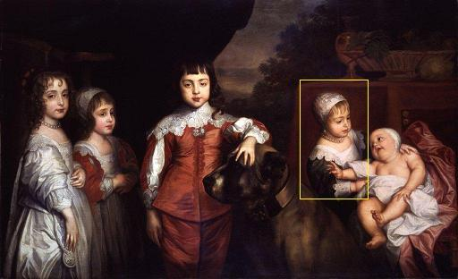 Charles I's 5 Children by Van Dick